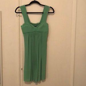 Green black halo dress